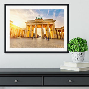 Brandenburg gate at sunset Framed Print - Canvas Art Rocks - 1