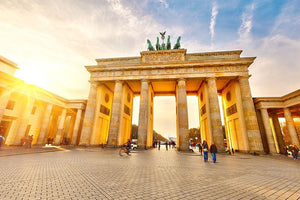 Brandenburg gate at sunset Wall Mural Wallpaper - Canvas Art Rocks - 1