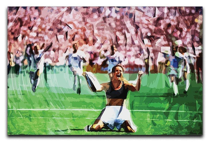 Brandi Chastain Celebrates USA Soccer 1999 Canvas Print or Poster