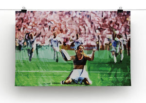 Brandi Chastain Celebrates USA Soccer 1999 Canvas Print or Poster - Canvas Art Rocks - 2