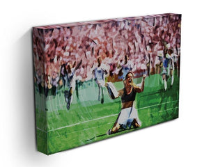 Brandi Chastain Celebrates USA Soccer 1999 Canvas Print or Poster - Canvas Art Rocks - 3