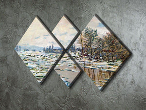 Break Up of Ice by Monet 4 Square Multi Panel Canvas - Canvas Art Rocks - 2