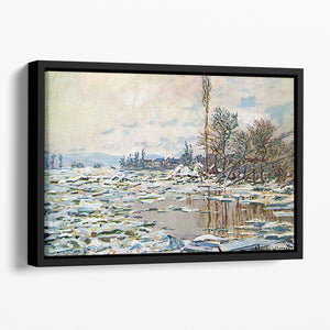 Break Up of Ice by Monet Floating Framed Canvas