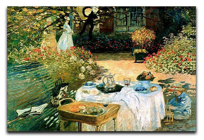 Breakfast by Monet Canvas Print or Poster