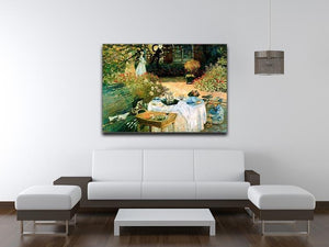 Breakfast by Monet Canvas Print & Poster - Canvas Art Rocks - 4