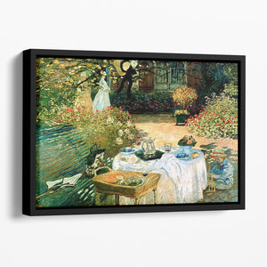 Breakfast by Monet Floating Framed Canvas