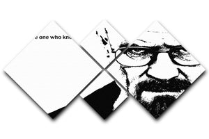 Breaking Bad Walter White 4 Square Multi Panel Canvas  - Canvas Art Rocks - 1