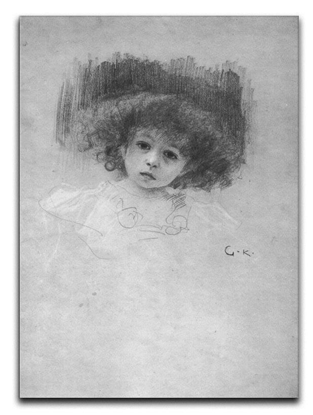 Breast image of a child by Klimt Canvas Print or Poster  - Canvas Art Rocks - 1