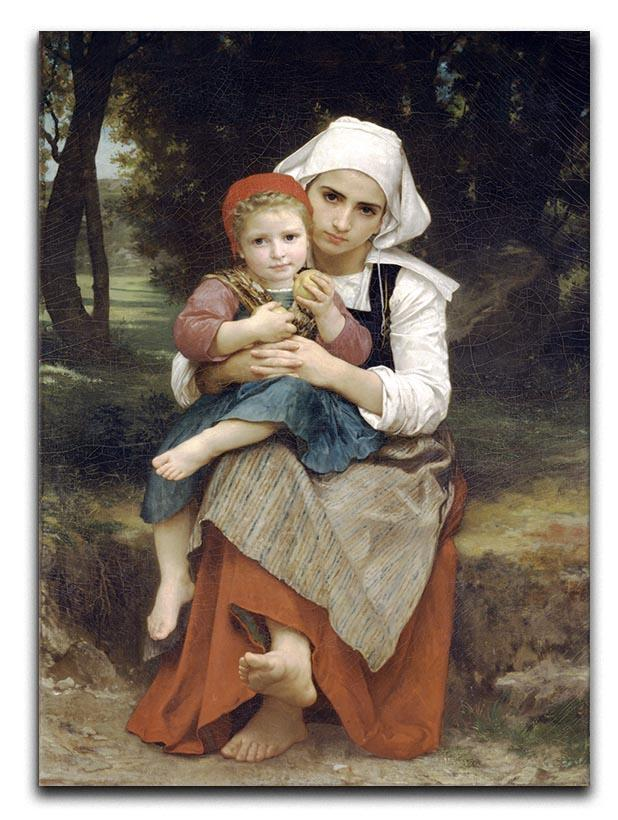 Breton Brother and Sister By Bouguereau Canvas Print or Poster  - Canvas Art Rocks - 1