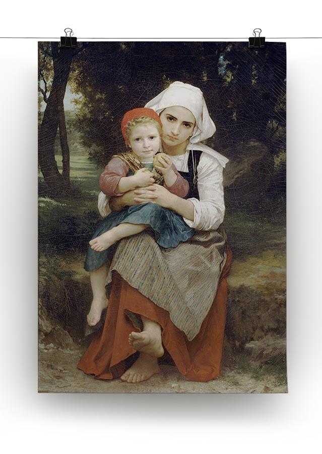Breton Brother and Sister By Bouguereau Canvas Print or Poster - Canvas Art Rocks - 2