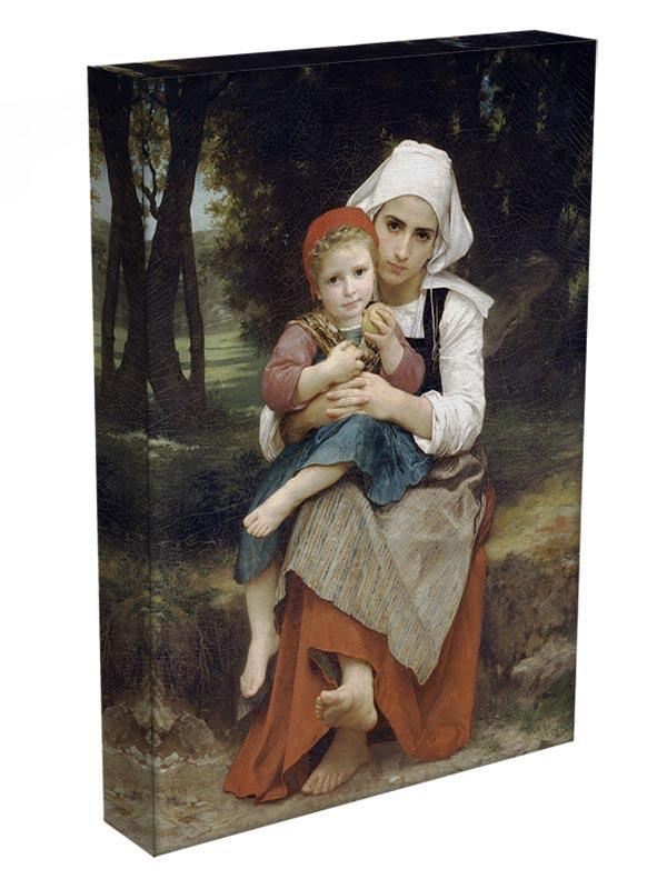 Breton Brother and Sister By Bouguereau Canvas Print or Poster - Canvas Art Rocks - 3