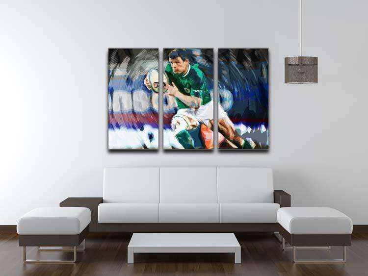Brian ODriscoll 3 Split Panel Canvas Print - Canvas Art Rocks - 3