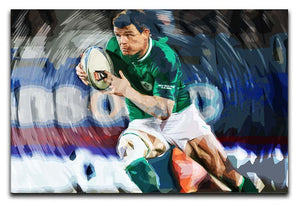 Brian ODriscoll Canvas Print or Poster  - Canvas Art Rocks - 1