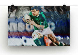 Brian ODriscoll Canvas Print or Poster - Canvas Art Rocks - 2