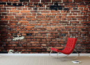 Brick wall background Wall Mural Wallpaper - Canvas Art Rocks - 2