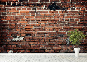 Brick wall background Wall Mural Wallpaper - Canvas Art Rocks - 4