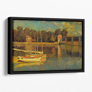 Bridge at Argenteuil by Monet Floating Framed Canvas