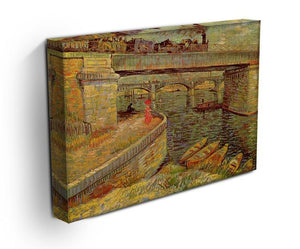 Bridges across the Seine at Asnieres by Van Gogh Canvas Print & Poster - Canvas Art Rocks - 3