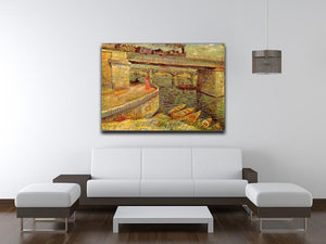 Bridges across the Seine at Asnieres by Van Gogh Canvas Print & Poster - Canvas Art Rocks - 4