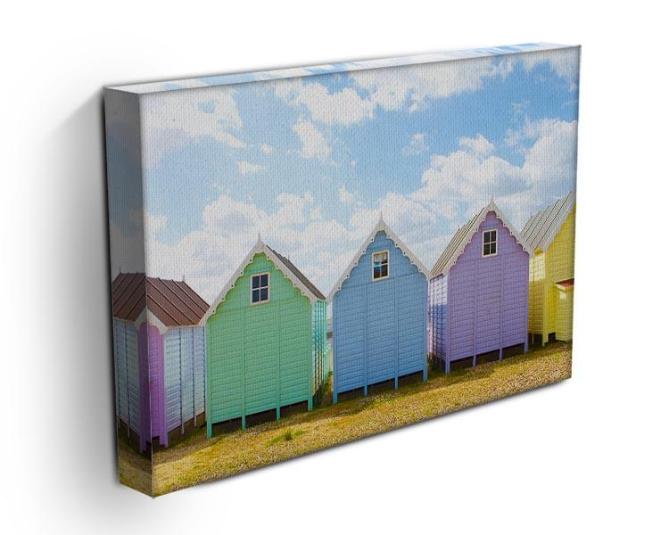 British beach huts on a bright sunny day Canvas Print or Poster - Canvas Art Rocks - 3