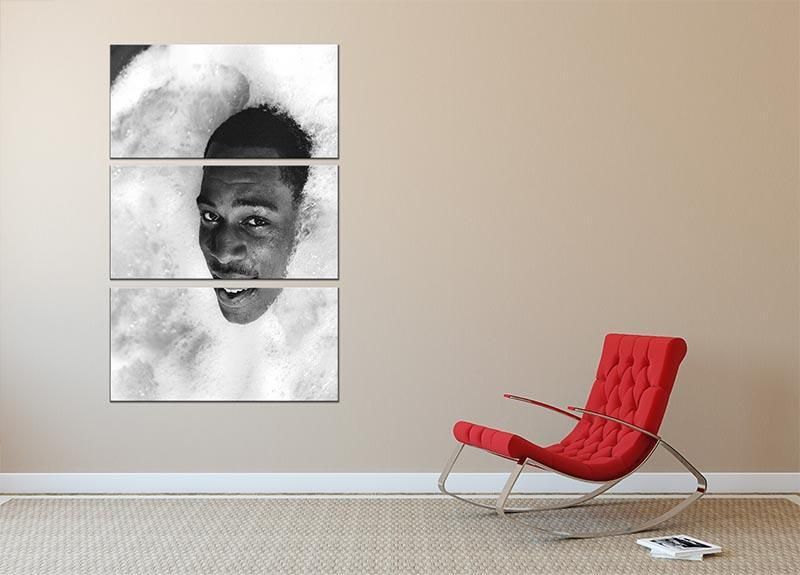 British boxer Frank Bruno in the Jacuzzi 3 Split Panel Canvas Print - Canvas Art Rocks - 2