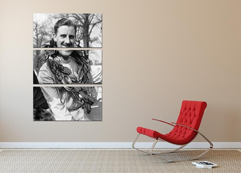British racing driver Graham Hill 3 Split Panel Canvas Print - Canvas Art Rocks - 2