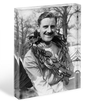 British racing driver Graham Hill Acrylic Block - Canvas Art Rocks - 1