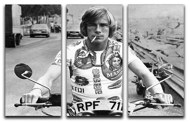 British racing driver James Hunt 3 Split Panel Canvas Print - Canvas Art Rocks - 1