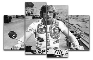 British racing driver James Hunt 4 Split Panel Canvas  - Canvas Art Rocks - 1