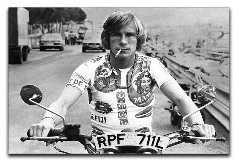 British racing driver James Hunt Canvas Print or Poster  - Canvas Art Rocks - 1