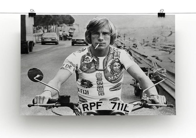 British racing driver James Hunt Canvas Print or Poster - Canvas Art Rocks - 2