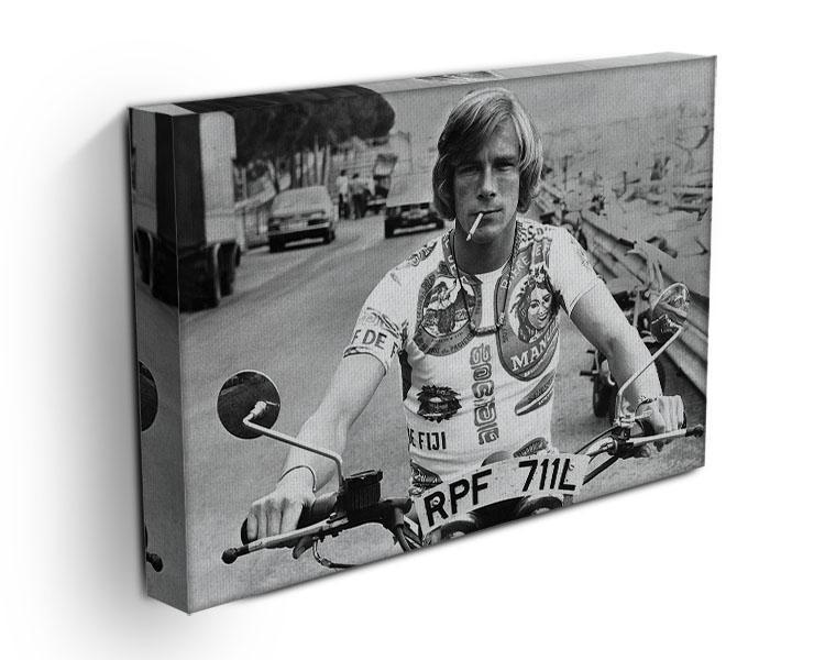 British racing driver James Hunt Canvas Print or Poster - Canvas Art Rocks - 3