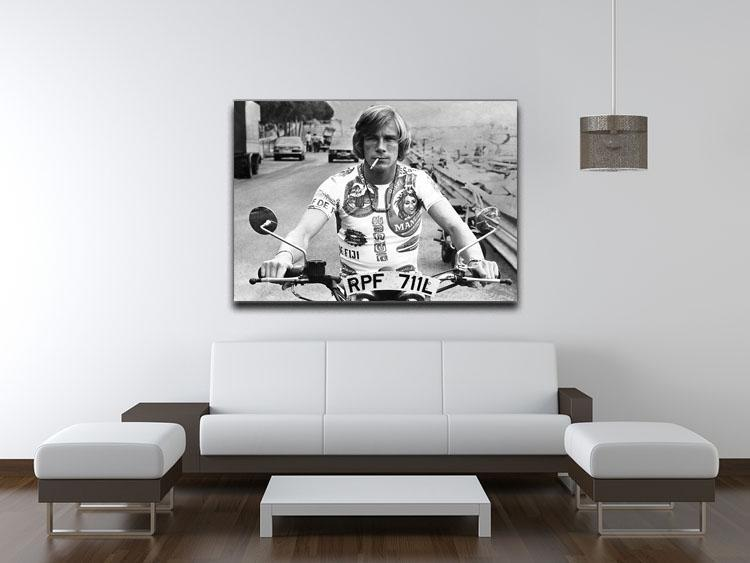 British racing driver James Hunt Canvas Print or Poster - Canvas Art Rocks - 4