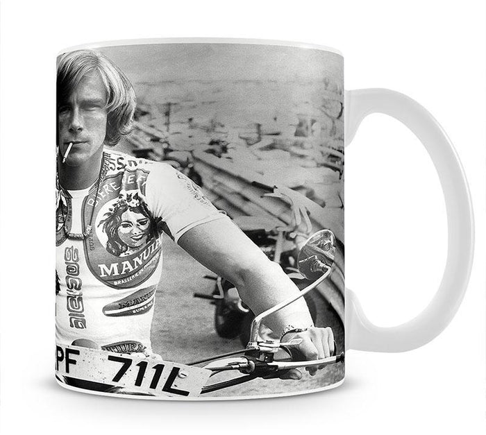 British racing driver James Hunt Mug