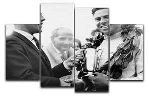 British racing drivers Jim Clark and Stirling Moss 4 Split Panel Canvas  - Canvas Art Rocks - 1