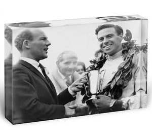 British racing drivers Jim Clark and Stirling Moss Acrylic Block - Canvas Art Rocks - 1