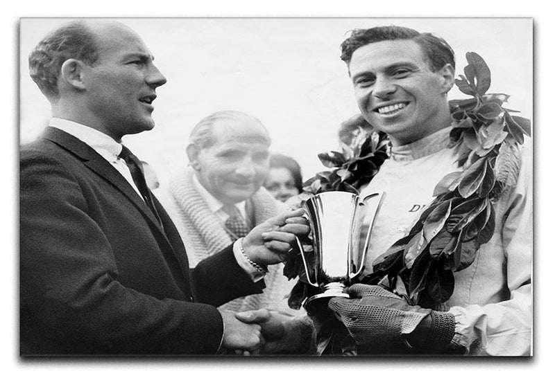 British racing drivers Jim Clark and Stirling Moss Canvas Print or Poster  - Canvas Art Rocks - 1