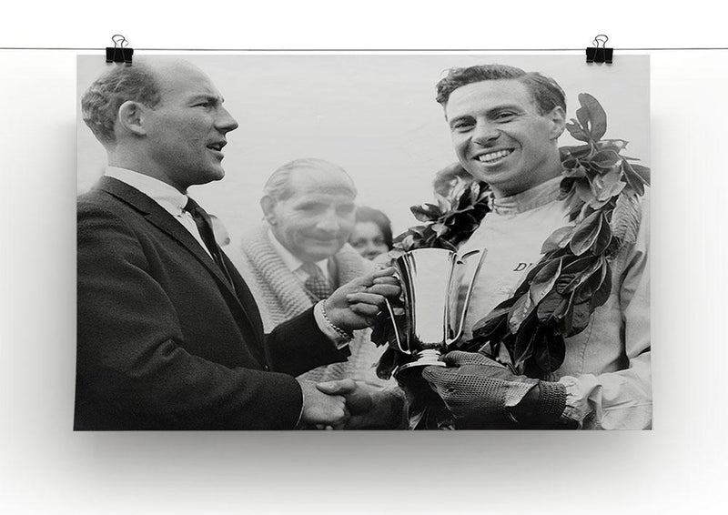 British racing drivers Jim Clark and Stirling Moss Canvas Print or Poster - Canvas Art Rocks - 2