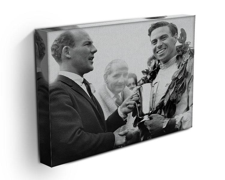 British racing drivers Jim Clark and Stirling Moss Canvas Print or Poster - Canvas Art Rocks - 3
