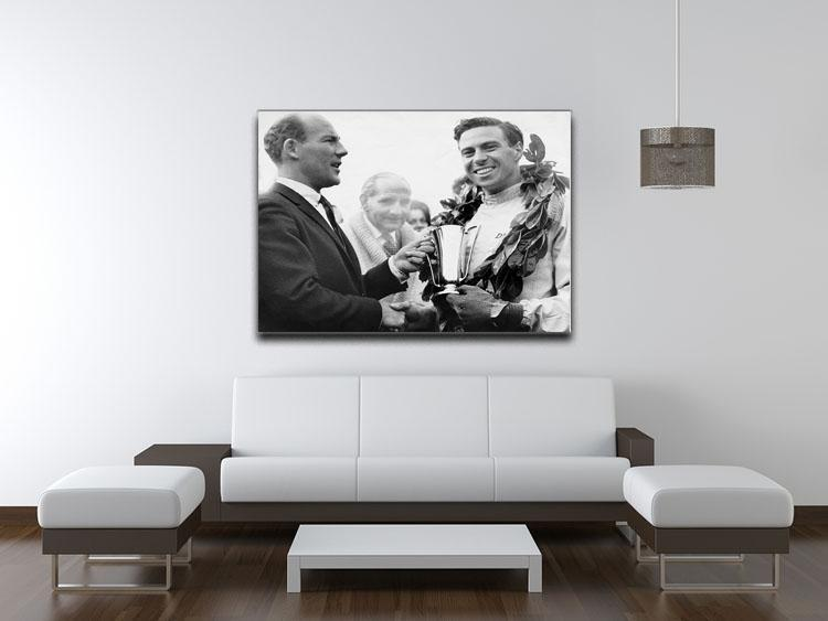 British racing drivers Jim Clark and Stirling Moss Canvas Print or Poster - Canvas Art Rocks - 4