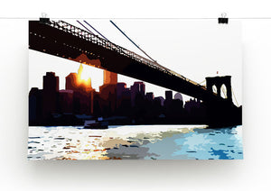 New York Brooklyn Bridge Print - Canvas Art Rocks - 2