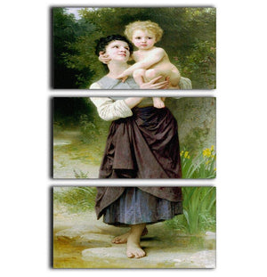 Brother And Sister By Bouguereau 3 Split Panel Canvas Print - Canvas Art Rocks - 1