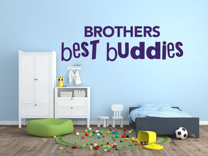 Brothers Best Buddies Wall Decal - Canvas Art Rocks - 1