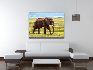Brown Elephant Print - Canvas Art Rocks - 4