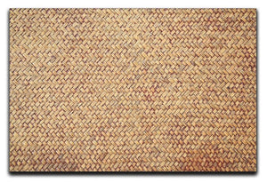 Brown rattan weave Canvas Print or Poster  - Canvas Art Rocks - 1