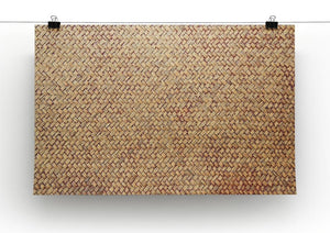 Brown rattan weave Canvas Print or Poster - Canvas Art Rocks - 2