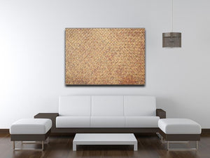 Brown rattan weave Canvas Print or Poster - Canvas Art Rocks - 4