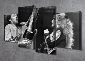 Bruce Springsteen and Patti Scialfa 4 Split Panel Canvas - Canvas Art Rocks - 2