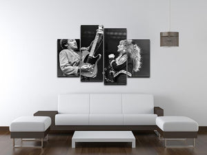 Bruce Springsteen and Patti Scialfa 4 Split Panel Canvas - Canvas Art Rocks - 3