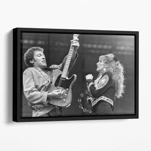 Bruce Springsteen and Patti Scialfa Floating Framed Canvas